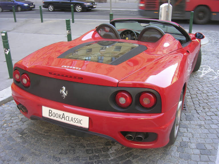 ferrari 360 spider zur miete in wien bookaclassic. Black Bedroom Furniture Sets. Home Design Ideas