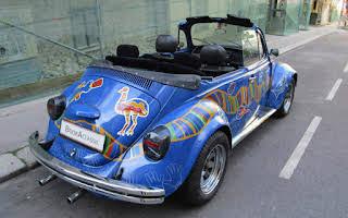 Volkswagen Käfer Cabrio (blau) Rent Niederösterreich